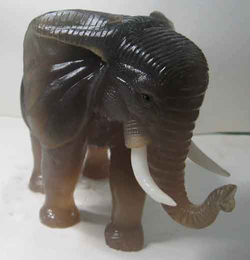 Grey Agate Elephants