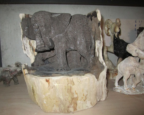 Petrified Wood elephant