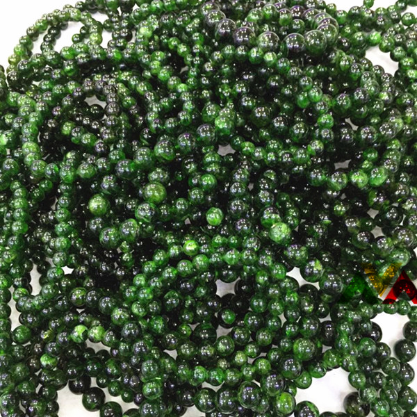Diopside round beads 6mm 8mm 10mm 12mm nice AB A AA