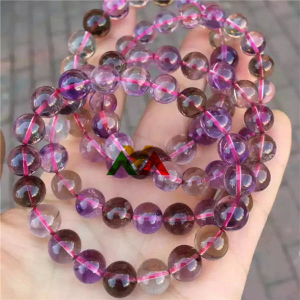 Natural Purple Rutilated Quartz bracelets 9mm-11mm