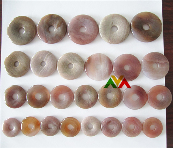 Ocean Jasper Pure Red color Donuts 25mm to 40mm