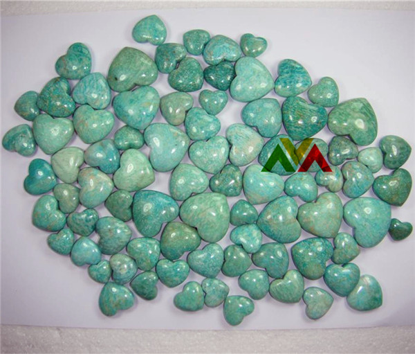 Russia Amazonite Puffy Hearts 20-50mm